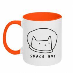 Кружка двоколірна 320ml Space boi