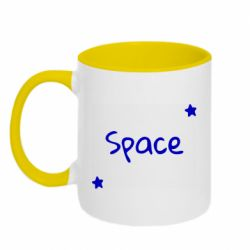 Кружка двоколірна 320ml Space: Letters and Stars Print