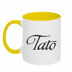 Кружка двоколірна 320ml Tato