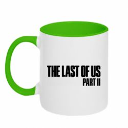 Кружка двухцветная 320ml The last of us part 2 logo
