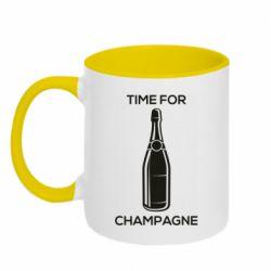 Кружка двоколірна 320ml Time for champagne