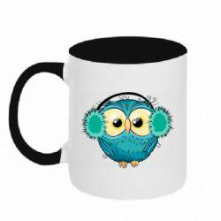 Кружка двухцветная 320ml Winter owl