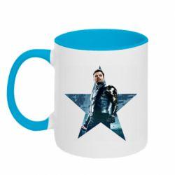 Кружка двоколірна 320ml Winter Soldier Star