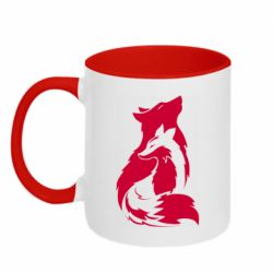 Кружка двухцветная 320ml Wolf And Fox