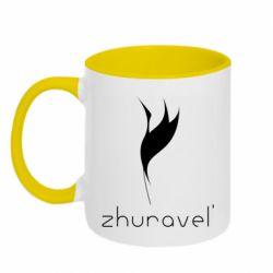 Кружка двоколірна 320ml Zhuravel