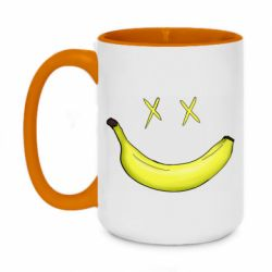 Кружка двухцветная 420ml Banana smile