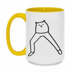 Кружка двоколірна 420ml Cat in pants