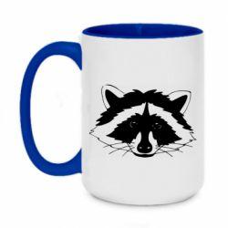 Кружка двоколірна 420ml Cute raccoon face