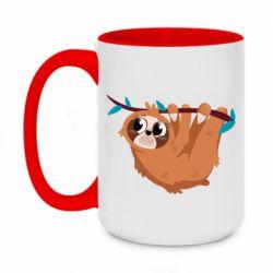 Кружка двоколірна 420ml Cute sloth