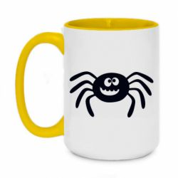 Кружка двухцветная 420ml Cute spider with mustache