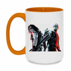 Кружка двоколірна 420ml Falcon and Winter Soldier
