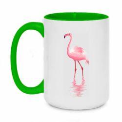 Кружка двоколірна 420ml Фламинго