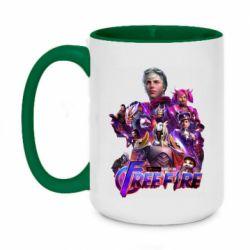 Кружка двухцветная 420ml Garena free avengers