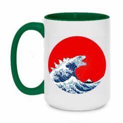 Кружка двоколірна 420ml Godzilla Wave