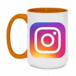 Кружка двоколірна 420ml Instagram Logo Gradient