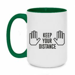 Кружка двоколірна 420ml Keep your distance
