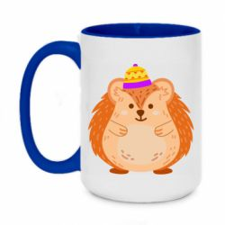 Кружка двоколірна 420ml Little hedgehog in a hat
