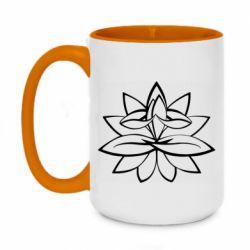 Кружка двоколірна 420ml Lotus yoga