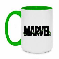 Кружка двухцветная 420ml Marvel logo and vine