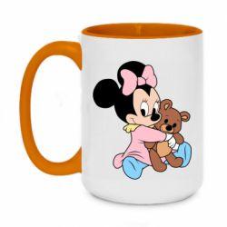 Кружка двоколірна 420ml Minnie And Bear