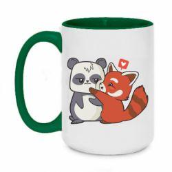 Кружка двоколірна 420ml Panda and fire panda