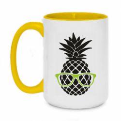 Кружка двухцветная 420ml Pineapple with glasses