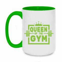 Кружка двоколірна 420ml Queen Of The Gym
