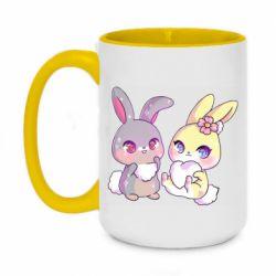 Кружка двоколірна 420ml Rabbits In Love