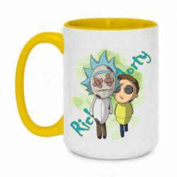 Кружка двоколірна 420ml Rick and Morty voodoo doll