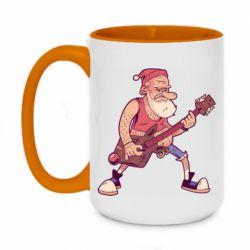 Кружка двоколірна 420ml Rock'n'roll Santa