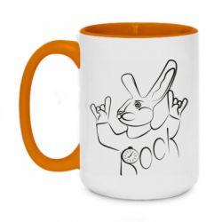 Кружка двоколірна 420ml Rock rabbit