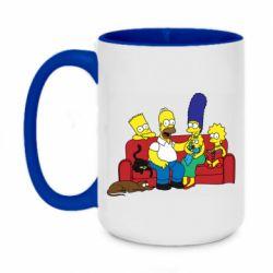 Кружка двухцветная 420ml Simpsons At Home