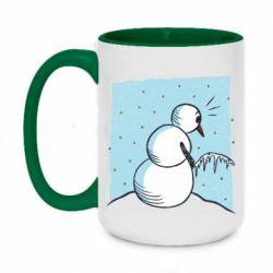 Кружка двоколірна 420ml Snowman. It's Cold!
