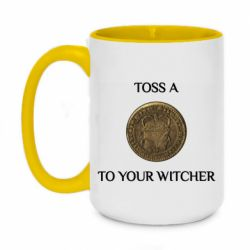 Кружка двоколірна 420ml Toss a coin to your witcher ( орен )