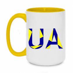Кружка двухцветная 420ml UA Ukraine