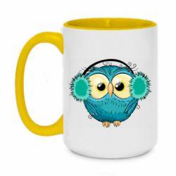 Кружка двухцветная 420ml Winter owl