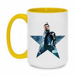 Кружка двоколірна 420ml Winter Soldier Star