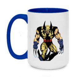 Кружка двоколірна 420ml Wolverine comics