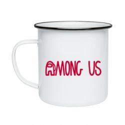 Кружка емальована Among Us Logo