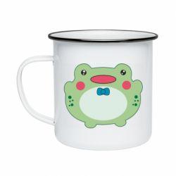Кружка емальована Baby frog