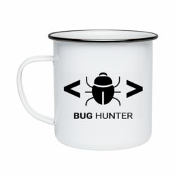 Кружка емальована Bug Hunter