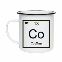 Кружка емальована Co coffee