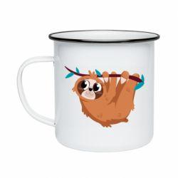 Кружка емальована Cute sloth