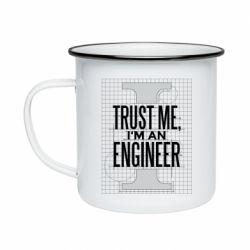 Кружка емальована Довірся мені я інженер