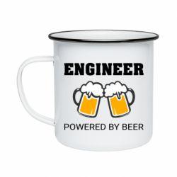 Кружка емальована Engineer Powered By Beer