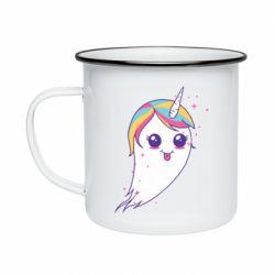 Кружка емальована Ghost Unicorn