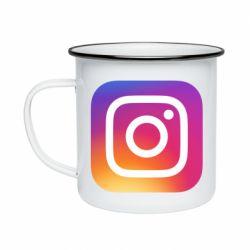 Кружка емальована Instagram Logo Gradient