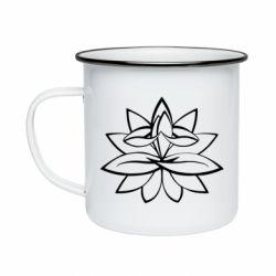 Кружка емальована Lotus yoga