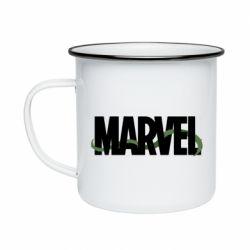 Кружка эмалированная Marvel logo and vine