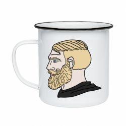 Кружка емальована Meme Man Nordic Gamer